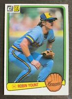 1983 Donruss Robin Yount #258 - Milwaukee Brewers - HOF - NM-MT+