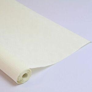 Ivory Swansilk Wipe Clean Paper Banquet Rolls 120cm x 40m