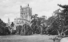Gloucestershire - Tewkesbury Abbey - Vintage Tuck's Postcard