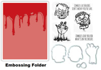 Tim Holtz Sizzix Framelits Dies & Stamps & Embossing Folder - Halloween Zombies