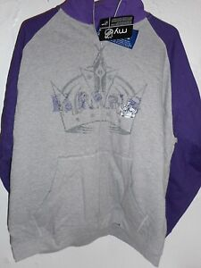 LA Kings NHL Men's Classic Full Zip Sweatshirt with front pockets Size Large NEW