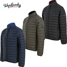 Men's Tokyo Laundry Quilted Puffer Jacket Funnel Neck Puffa Bubble Coat Padded