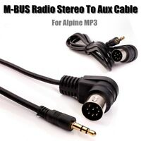 RADIO STEREO 8 PIN M-BUS DIN CABLE CORD TO 3.5MM MINI JACK AUX IN MP3 For