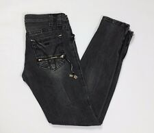 Miss sixty jeans donna skinny W27 tg 41 gamba stretta aderenti stretch zip T2826