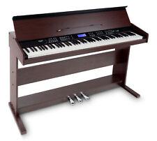 B-WARE 88-Tasten Digital E-Piano Beginner Home Keyboard Klavier Pedale USB Braun