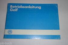 Betriebsanleitung Handbuch VW Golf II / 2 inkl. GTi Stand 07/1985