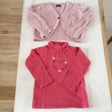 Lot Sergent Major 2 Ans Fille Gilet T-shirt ML