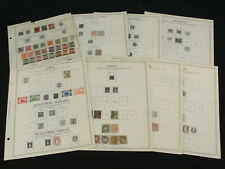 Early Germany States Stamp Lot Minkus Album Pages Saxony Hamburg Lubeck Sc# 6