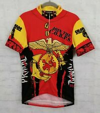 Primal Cycling Jersey US Marine Theme Eagle Red Black Mens Small Coolmax