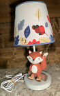 Lambs & Ivy Woodland Fox Nursery Lamp Excellent Condition
