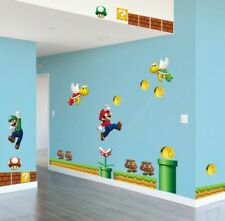 Super Mario Bros Wandtattoo Wandsticker Wandaufkleber Kinderzimmer Wand Dekor