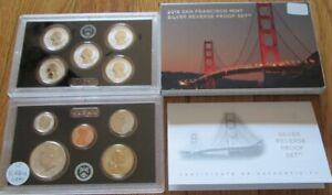 2018 Error Reverse Silver Proof Set Lite Gray Half U.S. Mint Box & COA 10 coins
