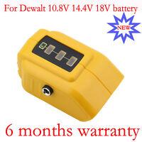 2 USB Ports Battery charger Adapter For Dewalt DCB090 10.8V 14.4V 18V Portable