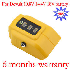 2 USB Ports Battery charger Adapter For Dewalt DCB090 10.8V 14.4V 18V Portable