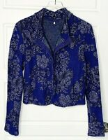 Anthropologie Knitted & Knotted Evening Petals Jacket Lace Hem Jacquard Medium