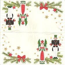 2 Serviettes en papier Noël Porte Bougie Decoupage Paper Napkins Christmas