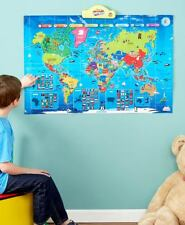 Interactive Talking World Map Educational High Quality Speaker Wall Floor 6yr+