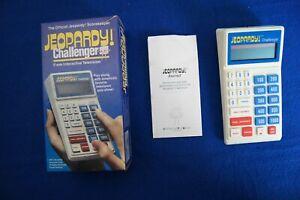 1987 Jeopardy Challenger  Official Scorekeeper Handheld Game in Box Alex Trebek