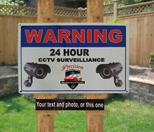 Personalised Metal CCTV Surveillance Security Camera  Warning Safety Sign