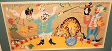 """MERVIN JULES """"CIRCUS"""" LIMITED ARTIST PROOF EDITION PENCIL SIGNED SERIGRAPH"""
