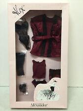Alex 'Sensual Essential Accessory' lingerie set black wine 3 or more combos Excl