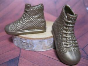 Ken Doll Fashionistas Fashion Clothes: GOLD HI TOP TENNIS Shoes Snekers Trainers