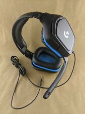 Logitech G432 Wired 7.1 Surround Sound Gaming Headset for PC Black/Blue