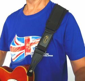 Guitar strap Super comfort padded Guitar or Bass stretch strap by Clearwater