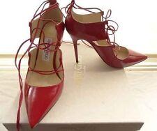 Jimmy Choo Party Slim 100% Leather Upper Heels for Women