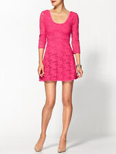 Free People Garden Lace Hot Pink Skater Dress- XS