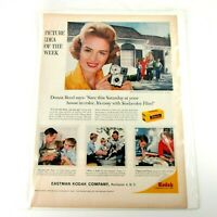 Vtg 50's Kodak Print Advertisement with Donna Reed and Brownie Starmite Camera