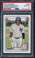 PSA 10 JASSON DOMINGUEZ 1st 2020 Bowman Paper Yankees Rookie Card RC GEM MINT