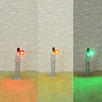 1 x N scale searchlight block signal model train 3 color SMD LEDs R/G/Y #SSNS3