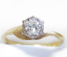Vintage Genuine 0.40ct G/VS Diamond Ring 18K Yellow Gold