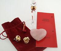 Ohr-Ringe ear rings clips Klips WEMPE Knoten 750 Gold Brillanten diamonds top