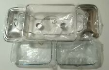 1.8L Twin Food Warmer 2 Stainless Steel Covers & 2 Rectangular Baking Dishes