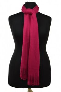 Echo Womens Scarf Size OS Pink Viscose Solid Casual
