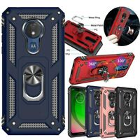 For Motorola Moto G7 Power / G7 Supra Case With Magnetic Ring Stand Rugged Cover