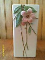 "Vintage 1940s McCoy Pottery Blossom Time Tall Vase 8.5"" Harder to Find"