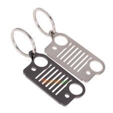 Stainless Steel Jeep Grill Key Chain KeyChain KeyRing CJ JK TJ YJ XJ #ORP