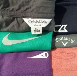 Lot of 6 Nike Callaway Grand Slam Champion Men's Polo Shirt Size Large Golf Top