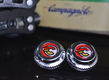 Cinelli Red pedals dust caps fit campagnolo super record gipiemme nuovo new old