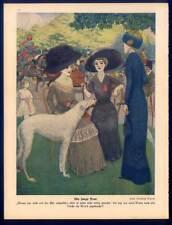 """Barsoi - Windhund - Jugendstil - aus Münchner """"JUGEND"""" 1911 Hunde"""