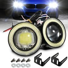 Pair 2.5'' 30W Car White Halo Angel Eyes Rings Projector COB LED Fog Light DRL