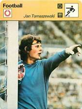 FICHE CARD: Jan Tomaszewski Poland Gardien de but Goalkeeper  FOOTBALL 1970s