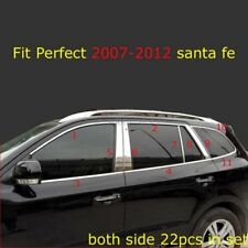 Stainless Full Set Car Window Strips Cover Trim For Hyundai Santa Fe 2007-2012