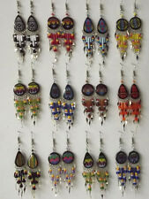 Lot of 12 Pairs of Peruvian Dangling Earrings. Inca Motifs