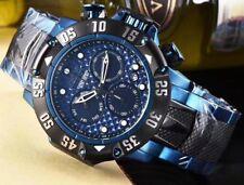 New w/Box Invicta Men's Subaqua Blue Dial Silicone Steel Strap Chrono 500M Watch