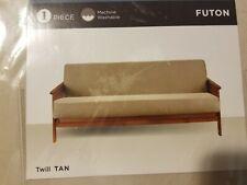 SureFit Twill Tan Futon Slipcover