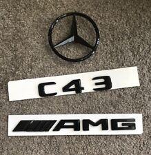 Black AMG Sticker Decal Emblem Badge for Benz A45 CLA45 C43 C63 GLC43 GLC63 GLE